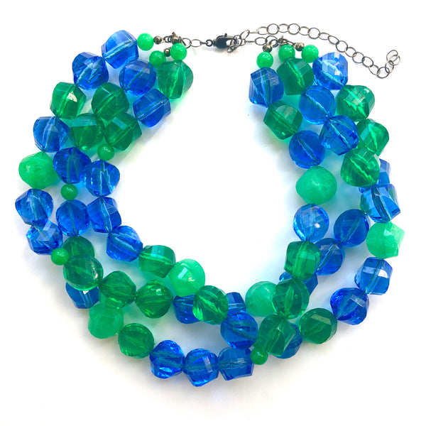 green blue necklace