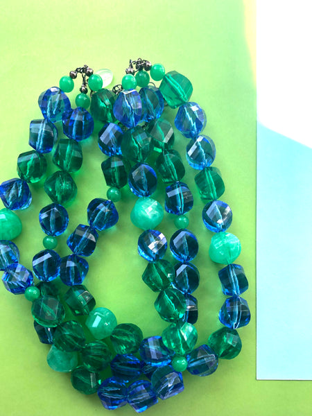 watery lucite statement necklace