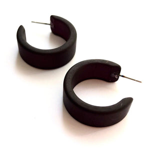 black hoop earrings