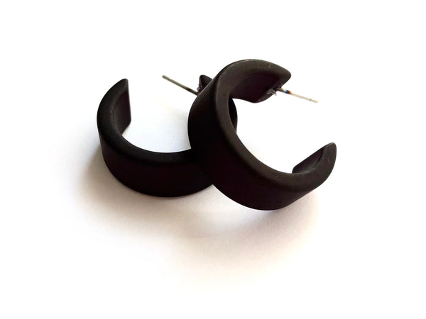 black earrings lucite