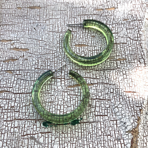 pear green hoops