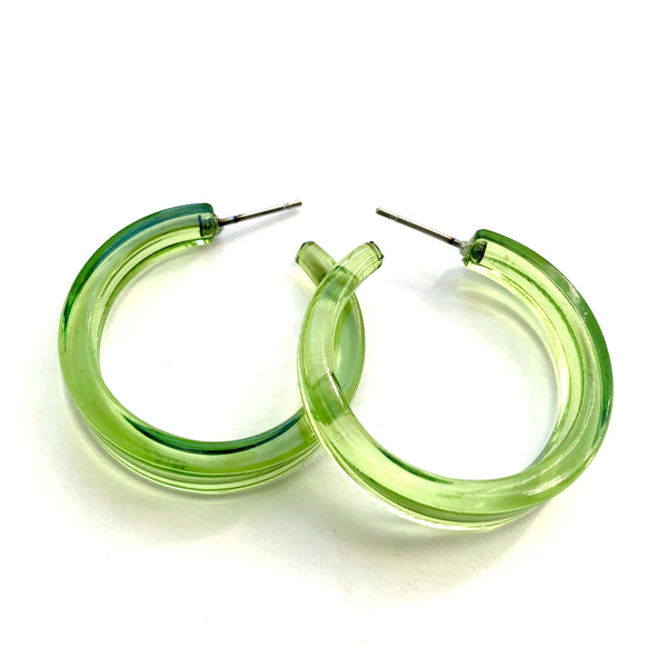 lime green lola hoops
