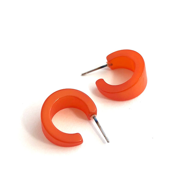 tiny orange hoops