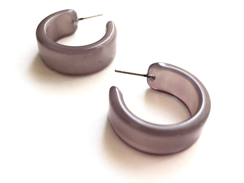 silver grey earrings