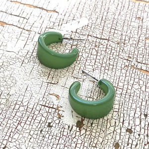 olive green hoops