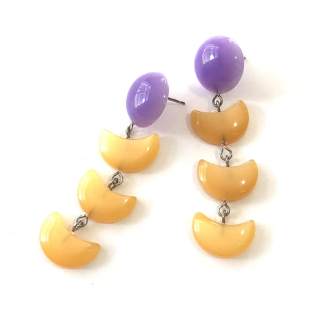 purple orange earrings