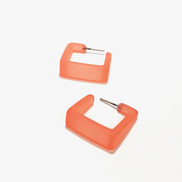 coral cubist hoops