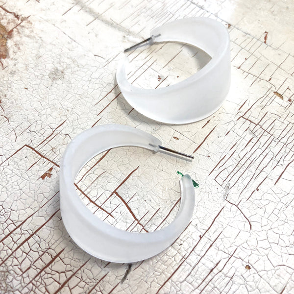 big tapered hoop earrings