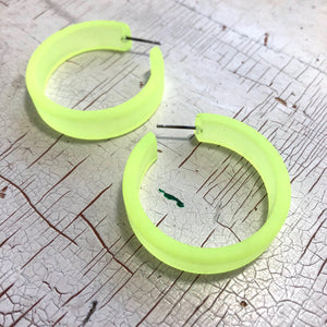 neon yellow portland hoops