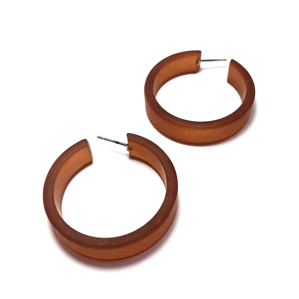large brown hoops