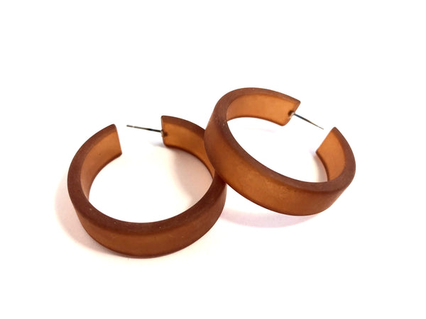 big brown hoop earrings