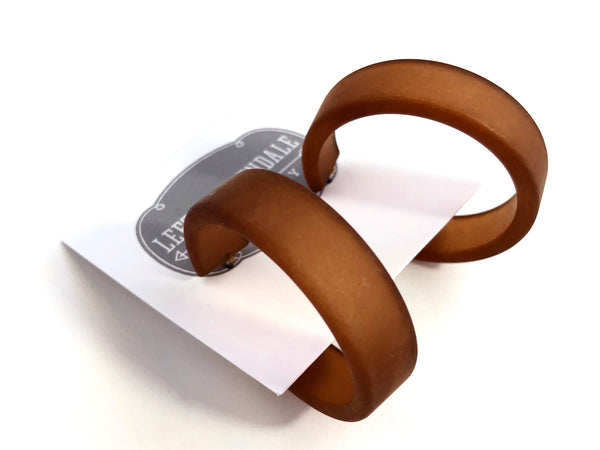chocolate hoop earrings