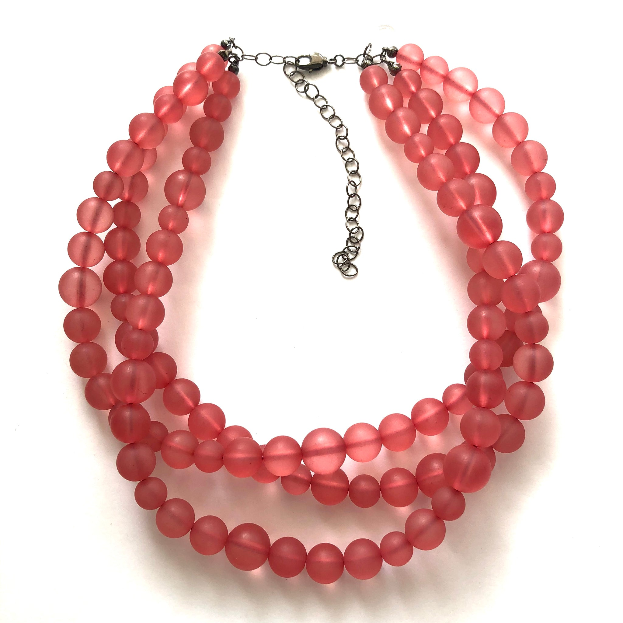 cranberry lucite jewelry