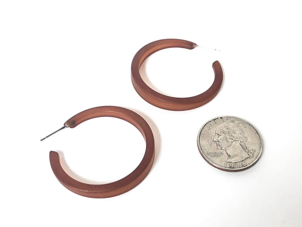 dark brown frosted hoops