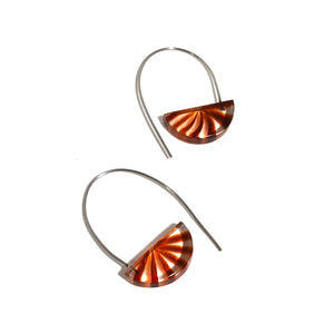 tortoise stripe earrings