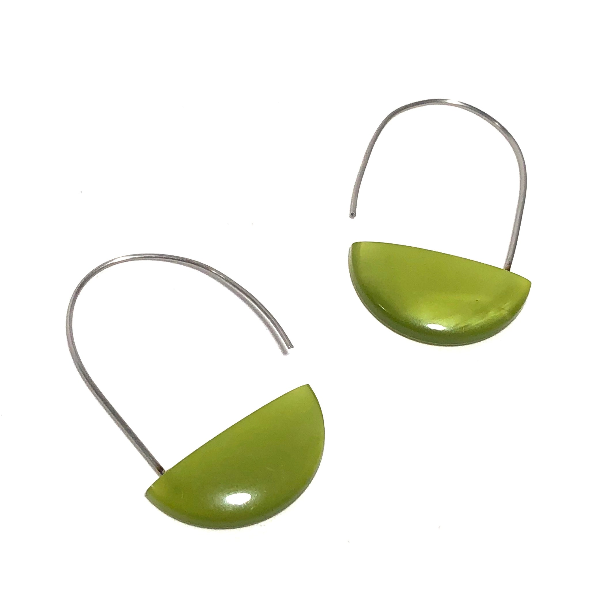 olive moonglow earrings