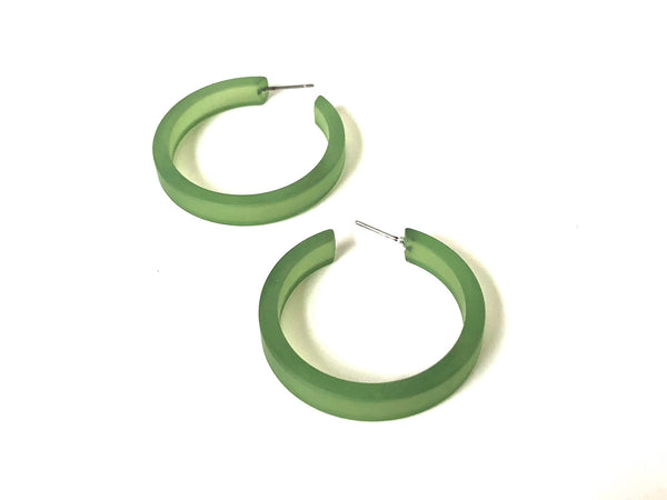 olive green classic hoops