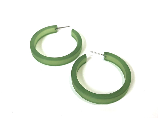 big green frosted hoops
