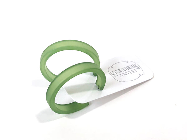 frosted green hoops