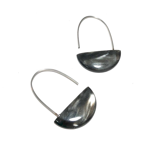 grey moonglow statement earrings
