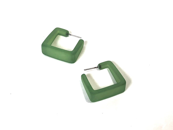 olive green square hoops
