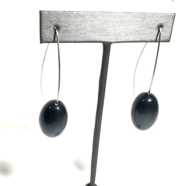 dark grey moonglow earrings