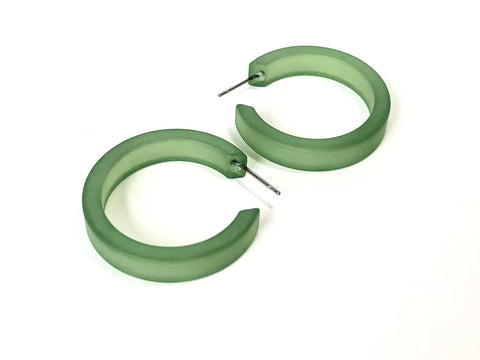 sea glass classic hoops