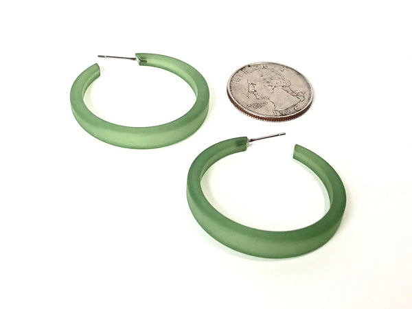 dark green phoenix hoops