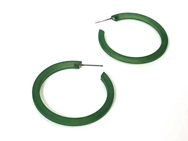 olive green thin hoops