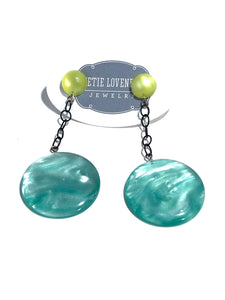 ice blue drop earrings
