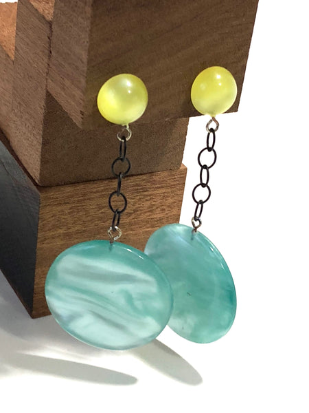 marbled moonglow drop earrings