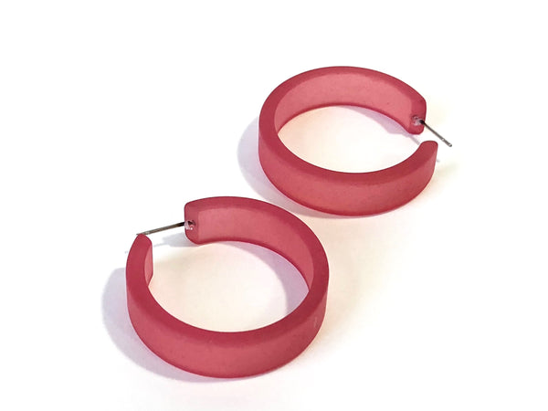 big cranberry frosted hoops
