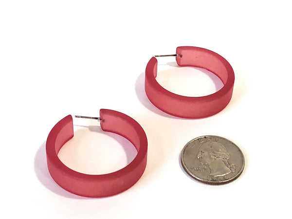 huge hoop earrings mauve