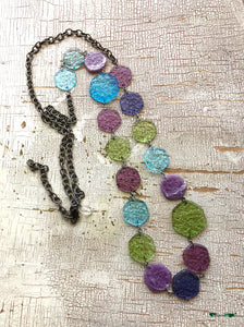 Seaside 'Stained Glass' Rope Necklace