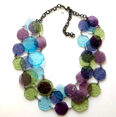 Seaside 'Stained Glass' Ice Chip Necklace