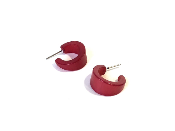 dark red moonglow hoops