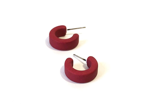 dark red hugger hoops