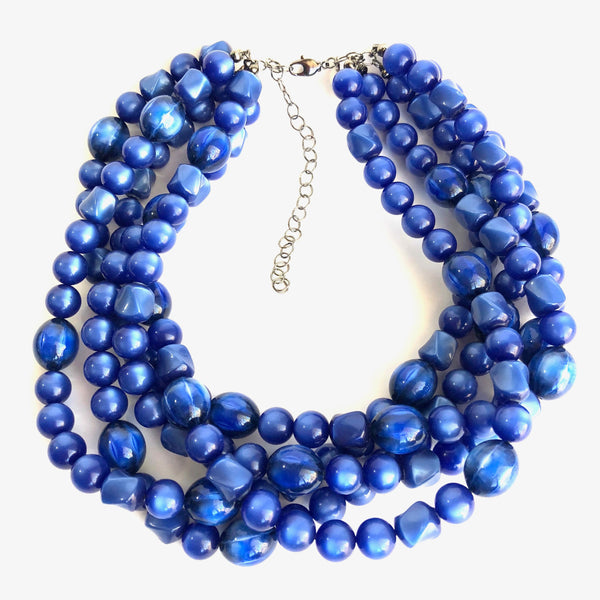 blue lucite necklace