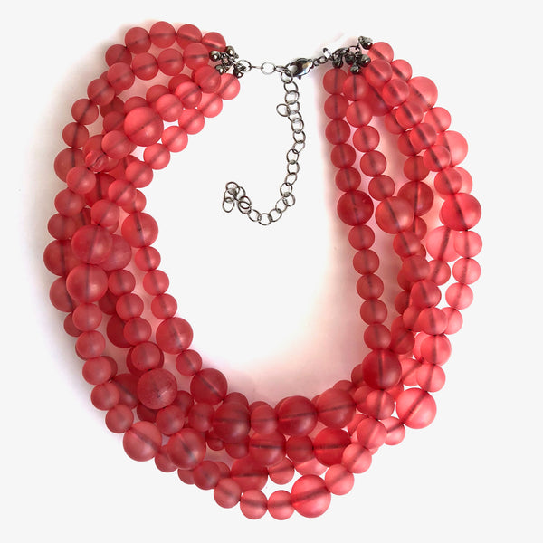 cranberry frosted beads