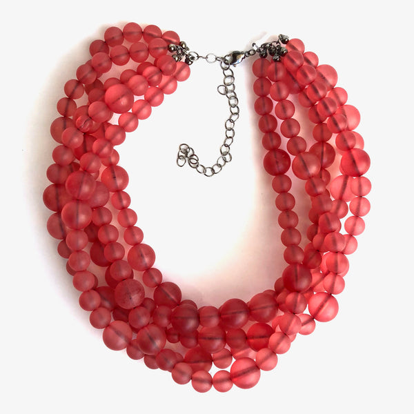 deep red necklace