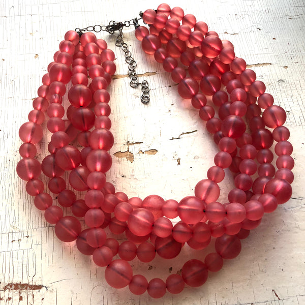 cranberry red necklace leetie