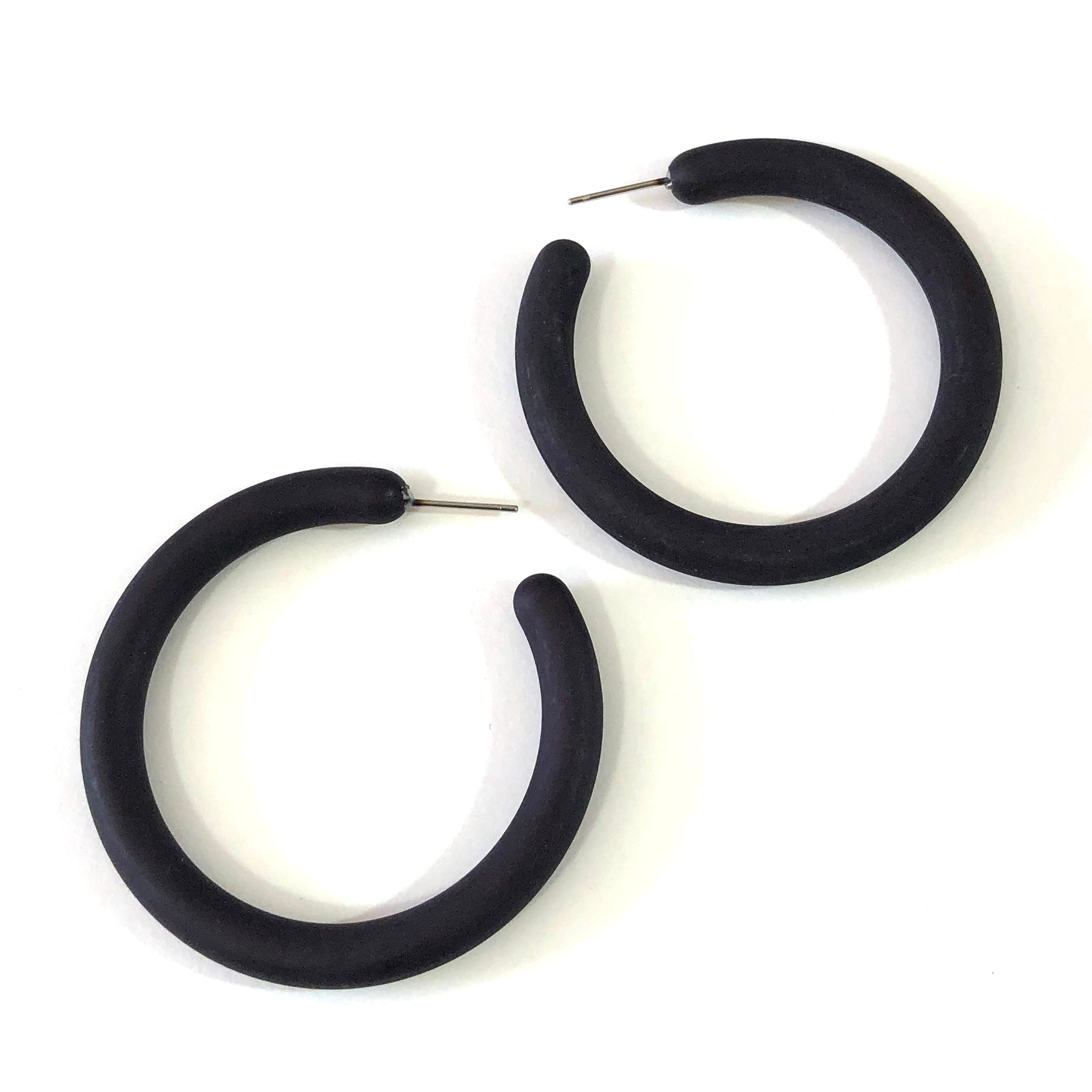 big black hoop earrings