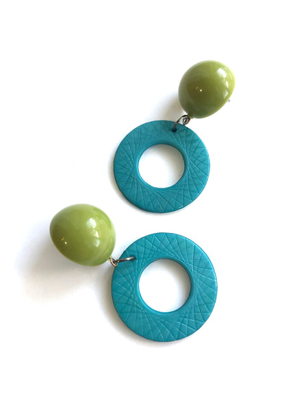 aqua earrings olive