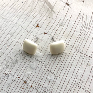 ivory stud earrings