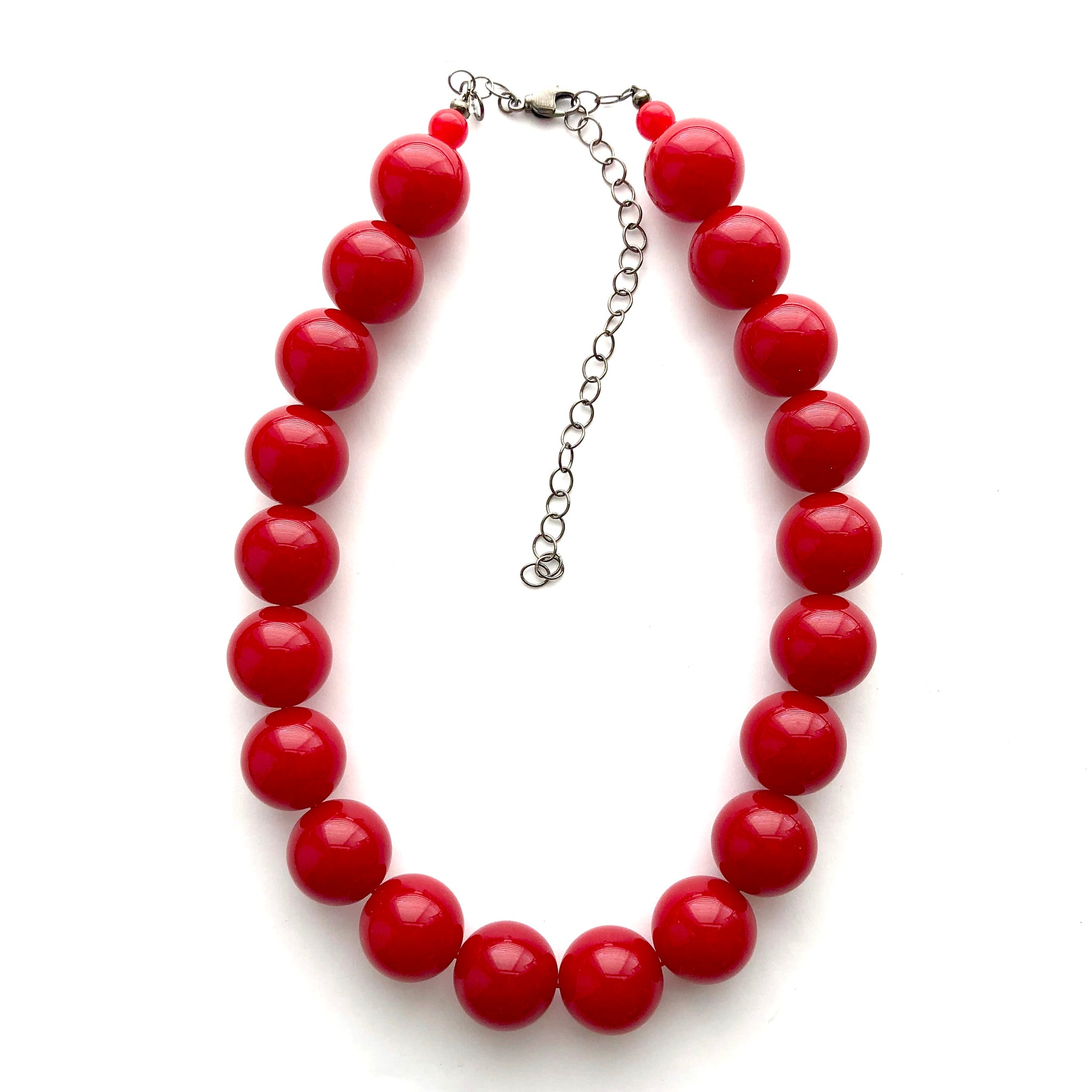 dark cherry red necklace