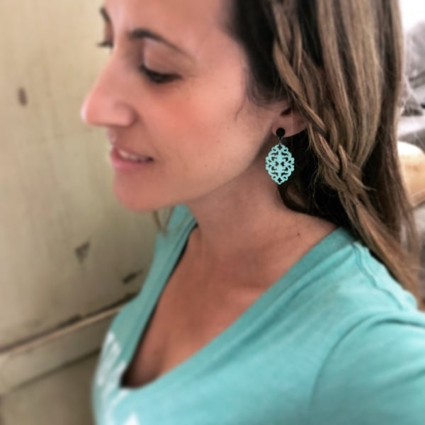 bohemian diamante earrings