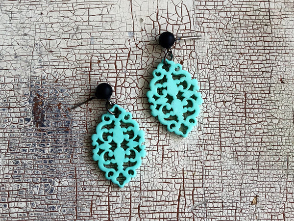 bohemian lace earrings turquoise