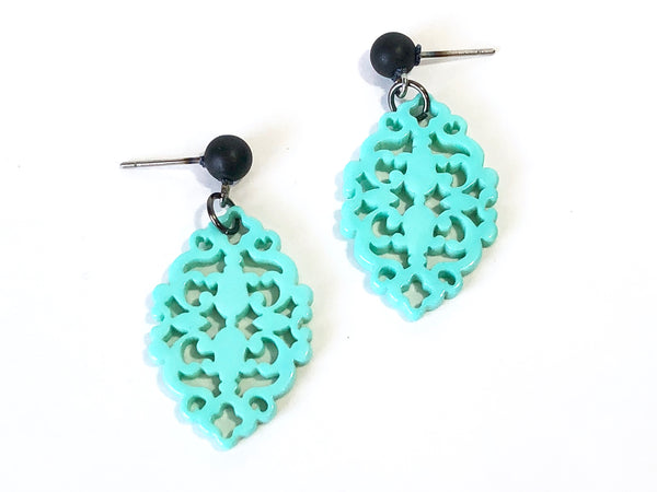 laser cut jewelry turquoise