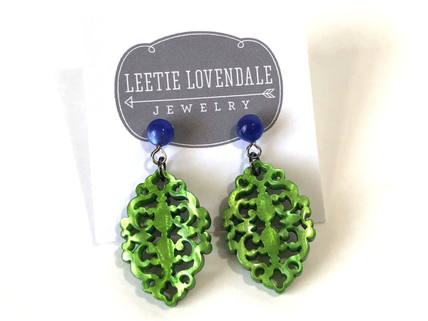 green glow earrings