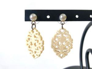 ivory lace earrings
